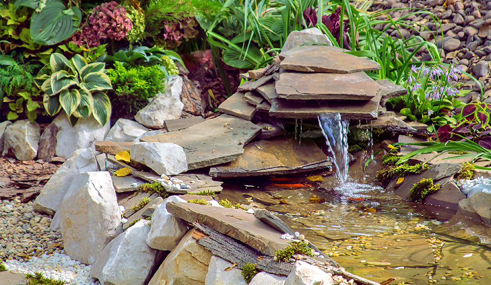 rock garden water feature