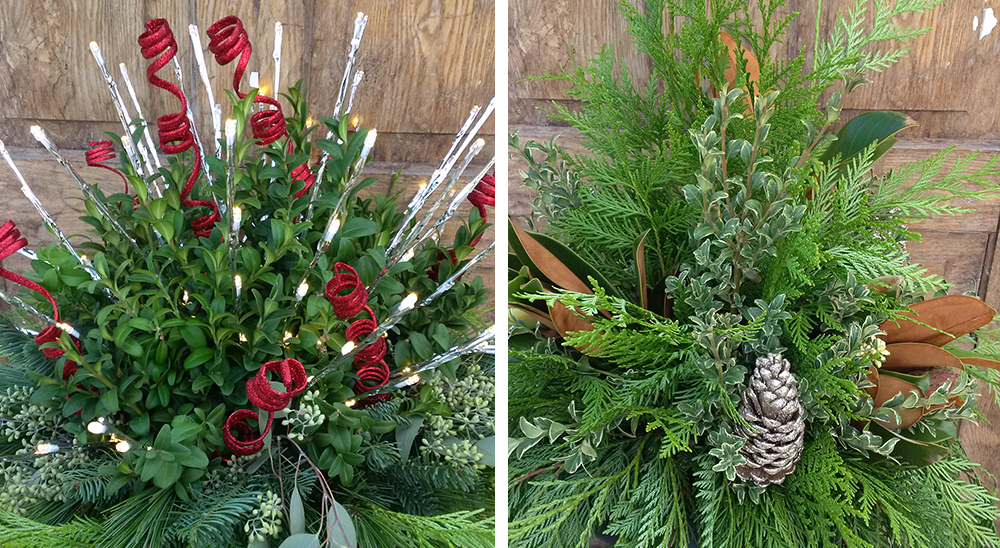 royal city nursery guelph getting ready for the holidays porch pot arrangements winter landscape
